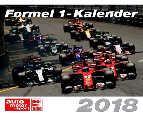 formel 1 kalender 2018 kalender motorbuch. Black Bedroom Furniture Sets. Home Design Ideas