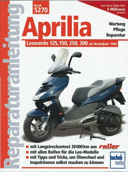 aprilia leonardo 125 150 250 300 ab modelljahr 1996. Black Bedroom Furniture Sets. Home Design Ideas