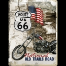 Blechschild 30x40cm: Route 66 National old Trails road