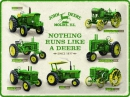 BLECHSCHILD 30x40 cm: NOTHING RUNS LIKE A DEERE